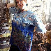 """Одежда ручной работы. Ярмарка Мастеров - ручная работа Туника валяная """" Жёлтым листиком в реке утонуло лето"""". Handmade."""