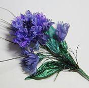 Свадебный салон handmade. Livemaster - original item Brooch bouquet of cornflowers. Handmade.