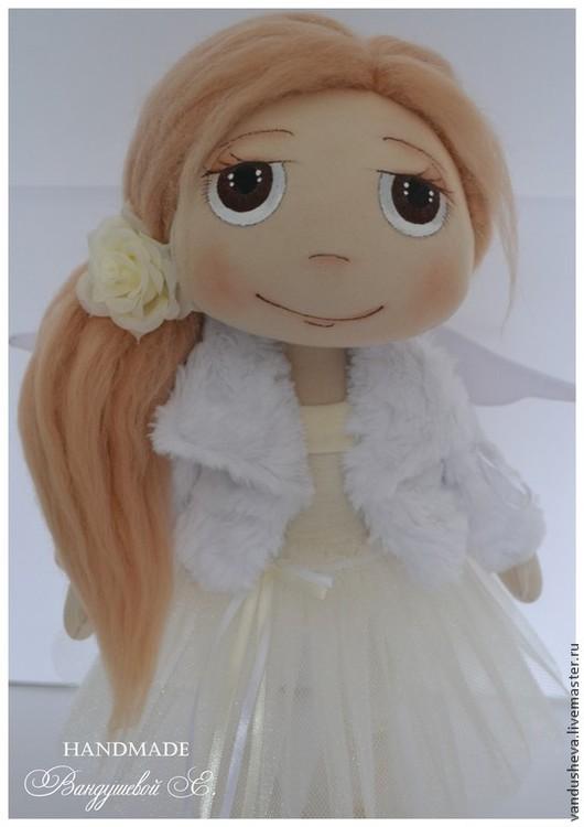 """Человечки ручной работы. Ярмарка Мастеров - ручная работа. Купить Текстильная кукла """"Маленький ангел"""". Handmade. Бежевый, подарок девушке"""