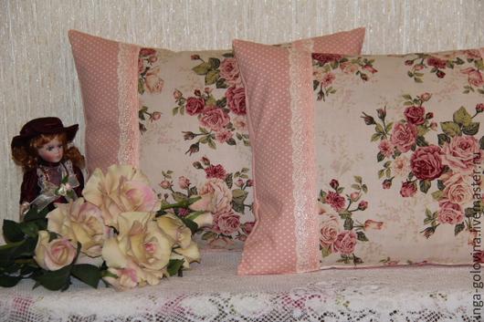 Текстиль, ковры ручной работы. Ярмарка Мастеров - ручная работа. Купить Декоративные наволочки Старинные розы. Handmade. Разноцветный
