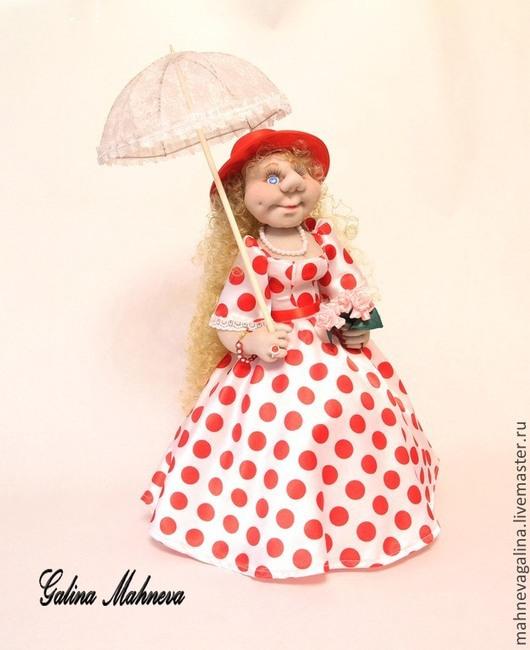 """Коллекционные куклы ручной работы. Ярмарка Мастеров - ручная работа. Купить Интерьерная кукла на чайник """"Леди"""". Handmade. Белый, синтепон"""