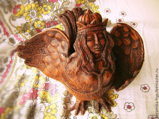 Статуэтки ручной работы. Ярмарка Мастеров - ручная работа. Купить Птица Сирин. Handmade. Сирин, ваза, ручная лепка