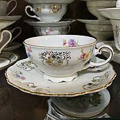 handmade. Livemaster - original item Vintage: Tea couple, Bavaria, 1949-1954, Seltmann (1014). Handmade.