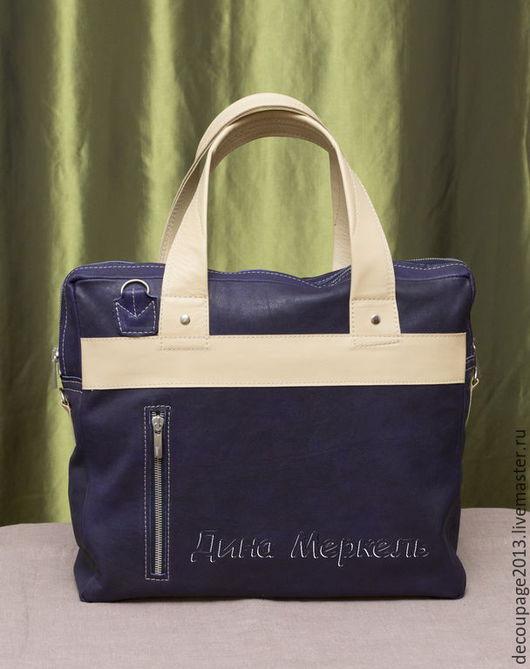 Мужские сумки ручной работы. Ярмарка Мастеров - ручная работа. Купить Сумка мужская натуральная кожа стиль кэжуал. Handmade.