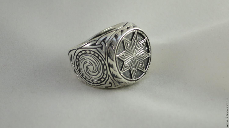 Перстень Алатырь мужской оберег, Перстень, Запорожье,  Фото №1