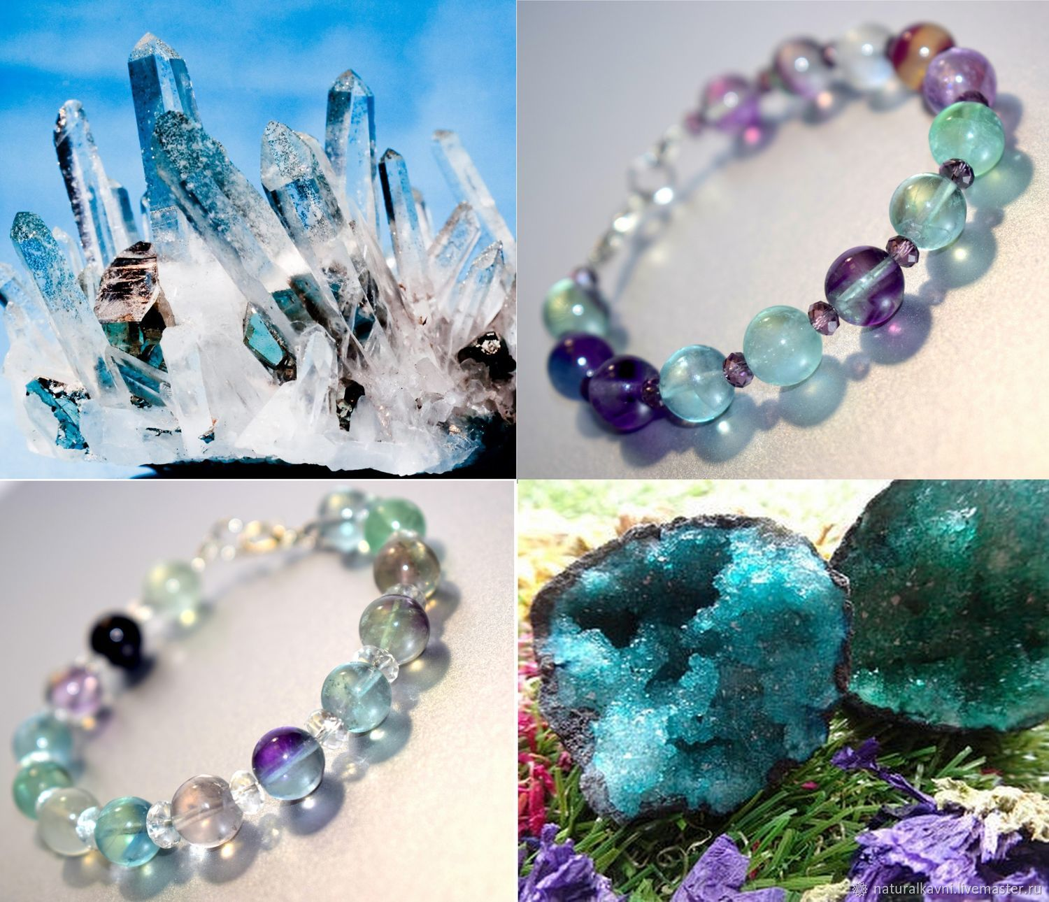 Vintage bracelets made of natural fluorite, Bead bracelet, Moscow,  Фото №1