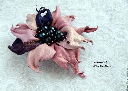 """Броши ручной работы. Ярмарка Мастеров - ручная работа. Купить Брошь-цветок """"Вlackberry """". Handmade. Бледно-розовый"""