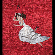 Свадебный салон ручной работы. Ярмарка Мастеров - ручная работа Свадебное покрывало с лицами  жениха и невесты в свадебных нарядах. Handmade.