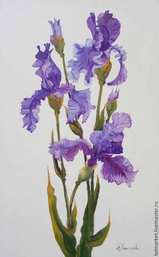 Ирисы (irises) картина маслом 50/80