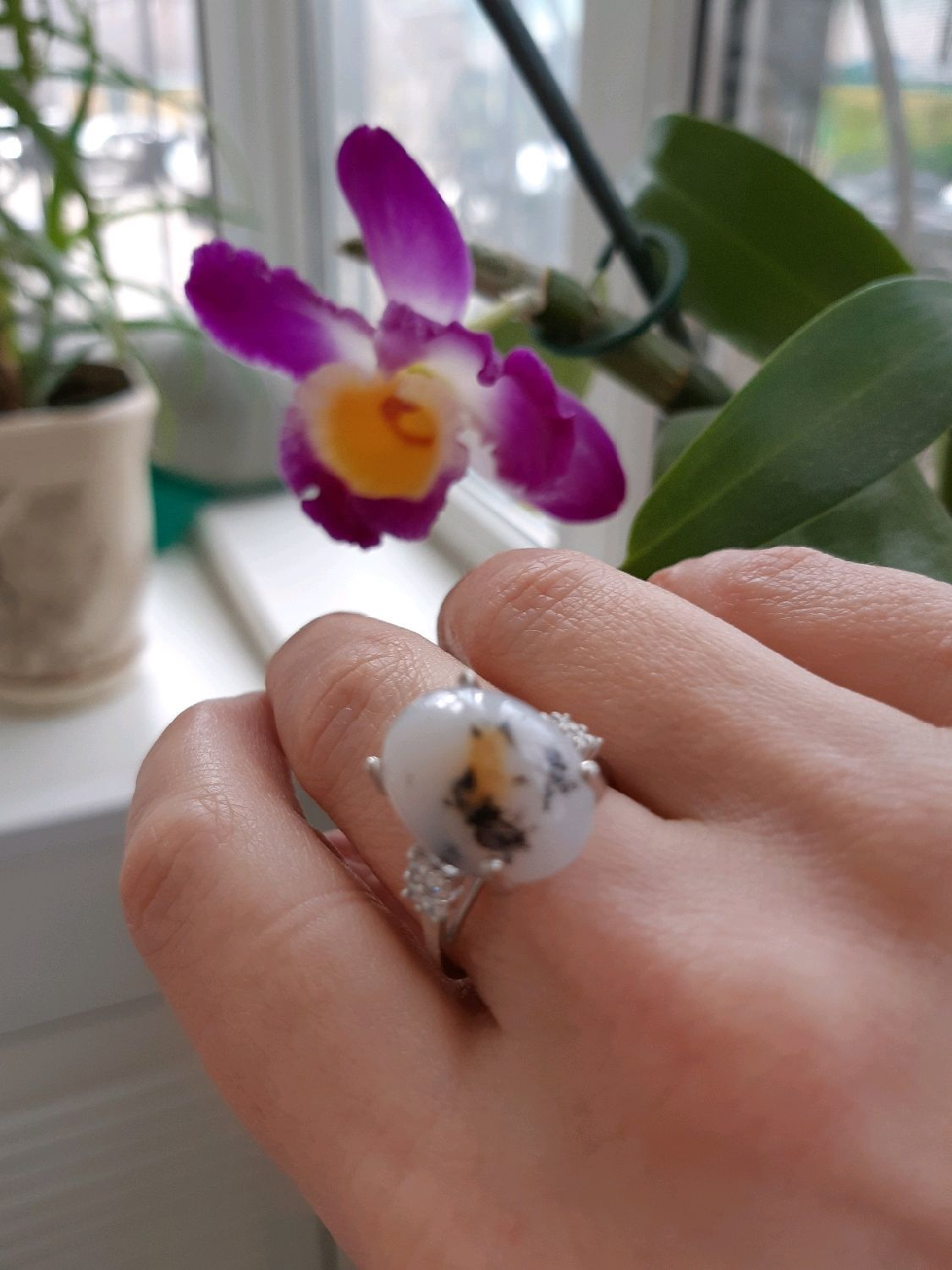 MYSTERY is a stylish ring with dendritic opal, Rings, Moscow,  Фото №1