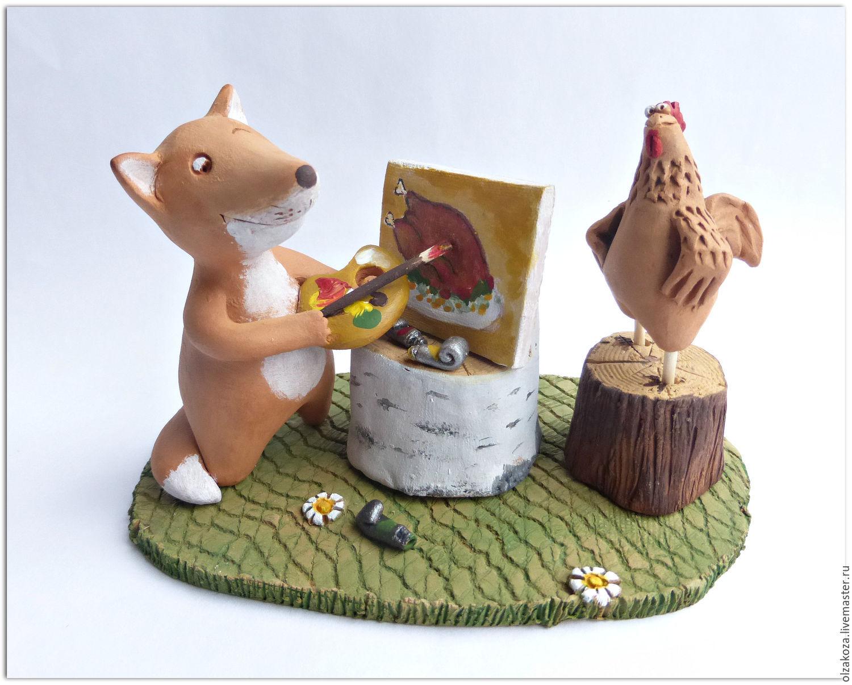 Animal Toys handmade. Livemaster - handmade. Buy I am an artist, I see!.Fox, 1 april 2017