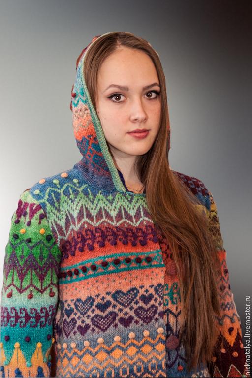 """Верхняя одежда ручной работы. Ярмарка Мастеров - ручная работа. Купить Пальто """"Краски"""". Handmade. Рисунок, дундага"""
