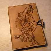 """Канцелярские товары ручной работы. Ярмарка Мастеров - ручная работа обложка на паспорт """"роза для любимых"""". Handmade."""