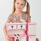 """Мебель для кукол ручной работы. Ярмарка Мастеров - ручная работа Мебель для кукол """"Моя Кухня"""" ваниль-роза. Handmade."""
