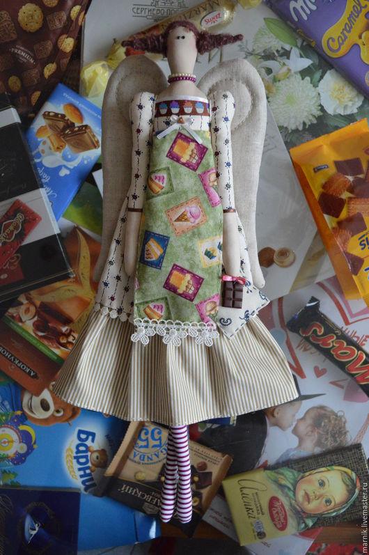 Куклы Тильды ручной работы. Ярмарка Мастеров - ручная работа. Купить Ангел сластены(2). Handmade. Тильда ангел, лён, синтепух