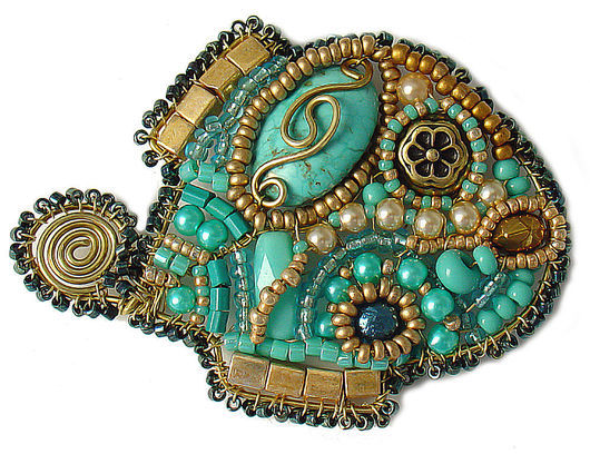 Brooches handmade. Livemaster - handmade. Buy Brooch 'Fish miniature' turquoise..Turquoise, the woman, gift for birthday, metal