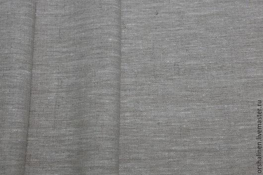 """Шитье ручной работы. Ярмарка Мастеров - ручная работа. Купить Ткань костюмная """"Вареный лен"""". Handmade. Серый, лен"""