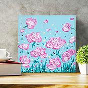 """Картины ручной работы. Ярмарка Мастеров - ручная работа Картина """"Цветочный фейерверк"""". Handmade."""