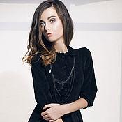 Одежда ручной работы. Ярмарка Мастеров - ручная работа Черное платье из вельвета. Handmade.