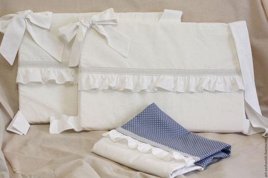 """Детская ручной работы. Ярмарка Мастеров - ручная работа. Купить набор """"Винтаж"""". Handmade. Белый, бязь, кровать, бязь"""
