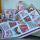 Текстиль, ковры ручной работы. Заказать Лоскутный комплект «Бабочки». QuiltGreen. Ярмарка Мастеров. Одеяло, пэчворк, текстиль для дачи