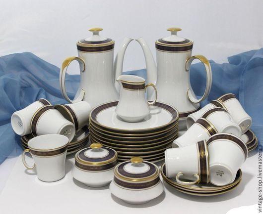 """Винтажная посуда. Ярмарка Мастеров - ручная работа. Купить Фарфоровый чайный сервиз на 10 персон """"Eschenbach Bavaria"""" (Германия). Handmade."""