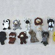 Аксессуары handmade. Livemaster - original item Fur keychain animals. Handmade.