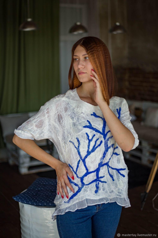 Silk Foam tunic, Tunics, Belovo,  Фото №1
