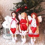 Куклы и игрушки ручной работы. Ярмарка Мастеров - ручная работа Текстильные куколки ангелы. Handmade.