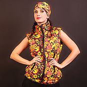 Одежда handmade. Livemaster - original item Vest with band collar by Russian Style. Panache. Handmade.