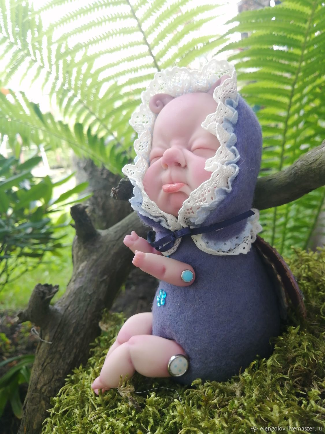 Interior DOLL made of POLYMER CLAY, Dolls, Moscow,  Фото №1