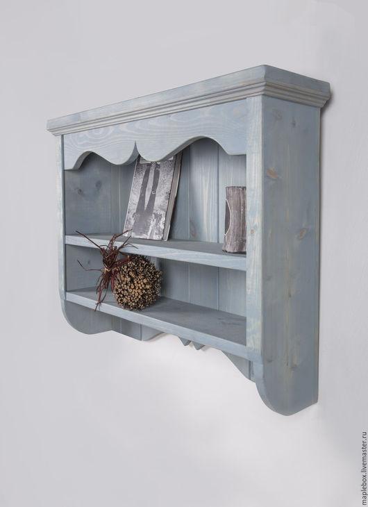"""Мебель ручной работы. Ярмарка Мастеров - ручная работа. Купить Полка в винтажном стиле """"Фьорд"""". Handmade. Голубой, кантри"""