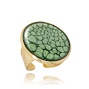 Украшения handmade. Livemaster - original item Big ring jade green business lady