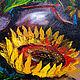 Картины цветов ручной работы. Подсолнухи ( Овал) 70х40. Александр ШИРШОВ Страна Картиния. Ярмарка Мастеров. Овальная картина