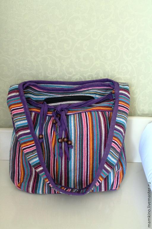 Женские сумки ручной работы. Ярмарка Мастеров - ручная работа. Купить Полосатая сумка через плечо. Handmade. В полоску