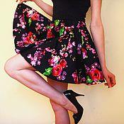 Одежда ручной работы. Ярмарка Мастеров - ручная работа Юбка-солнце Цветы. Handmade.