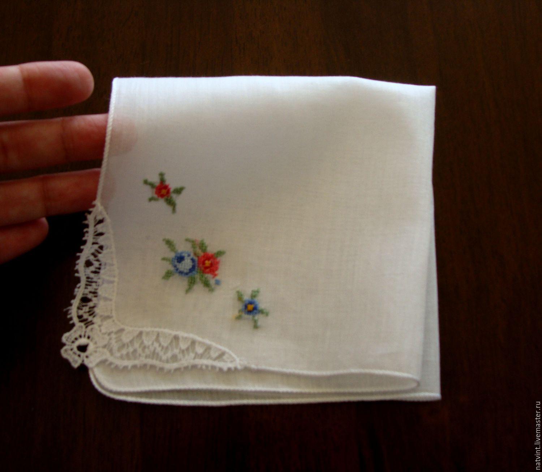 Платок носовой с вышивкой 8