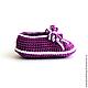 Для новорожденных, ручной работы. Пинетки «Фиолетовые туфли». Мария Зеленова ·Maryhand· (maryhandshop). Интернет-магазин Ярмарка Мастеров. Пинетки