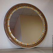 Для дома и интерьера ручной работы. Ярмарка Мастеров - ручная работа Зеркало круглое с мозаикой настенное. Handmade.