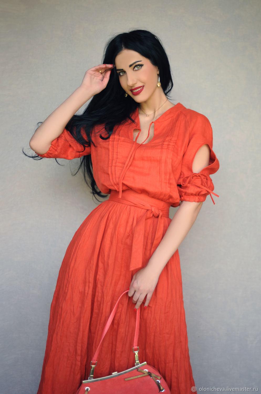 Stylish linen dress 'Bright summer', Dresses, Vinnitsa,  Фото №1