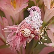 Украшения ручной работы. Ярмарка Мастеров - ручная работа брошь - птица розалин. Handmade.