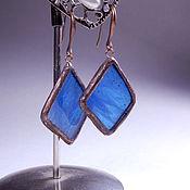 Earrings handmade. Livemaster - original item Earrings classic: Stained glass earrings