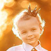 Работы для детей, ручной работы. Ярмарка Мастеров - ручная работа Золотая корона для принца. Для фото, фотосессии. Для мальчика.. Handmade.