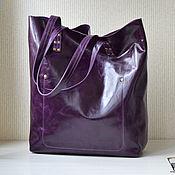 """Сумки и аксессуары ручной работы. Ярмарка Мастеров - ручная работа Кожаная сумка шоппер """"Рыжая бесстыжая"""" ))) Большая сумка, рыжий, корич. Handmade."""