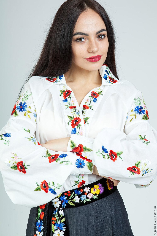 Летняя вышитая блуза Маковка, Блузки, Винница, Фото №1