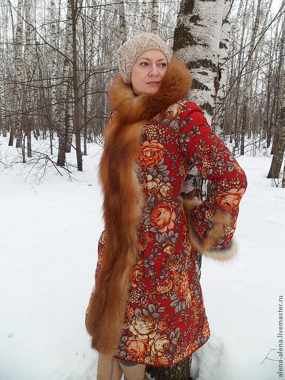 Купить зимнее пальто с мехом Самара