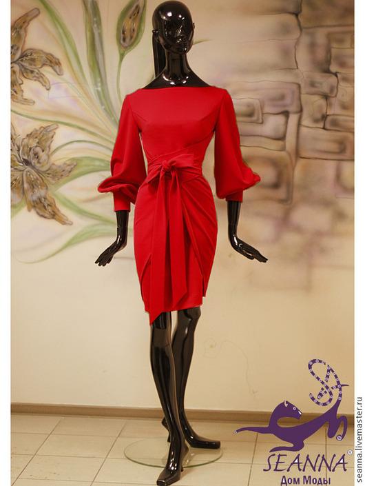 """Платья ручной работы. Ярмарка Мастеров - ручная работа. Купить Платье """"Роскошь в красных тонах"""" из плотного трикотажа в любом цвете. Handmade."""