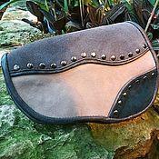 Сумки и аксессуары handmade. Livemaster - original item Copy of Leather and suede waist bag. Handmade.