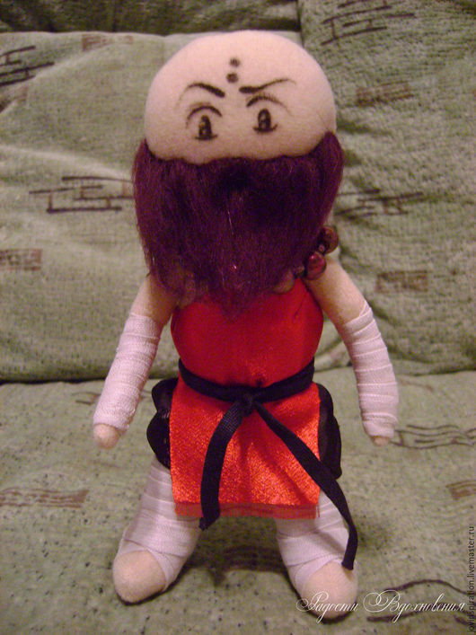 Человечки ручной работы. Ярмарка Мастеров - ручная работа. Купить Текстильная кукла Монах. Handmade. Комбинированный, трикотаж