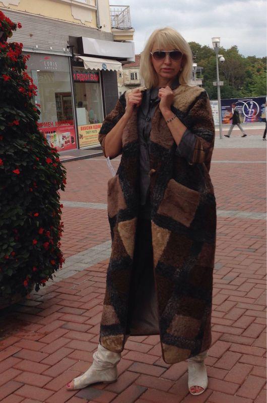 Верхняя одежда ручной работы. Ярмарка Мастеров - ручная работа. Купить Меховое пальто Барбарис. Handmade. Каракульча, каракульча